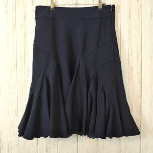 ANTHROPOLOGIE Odille Ruffle Skirt Size 6
